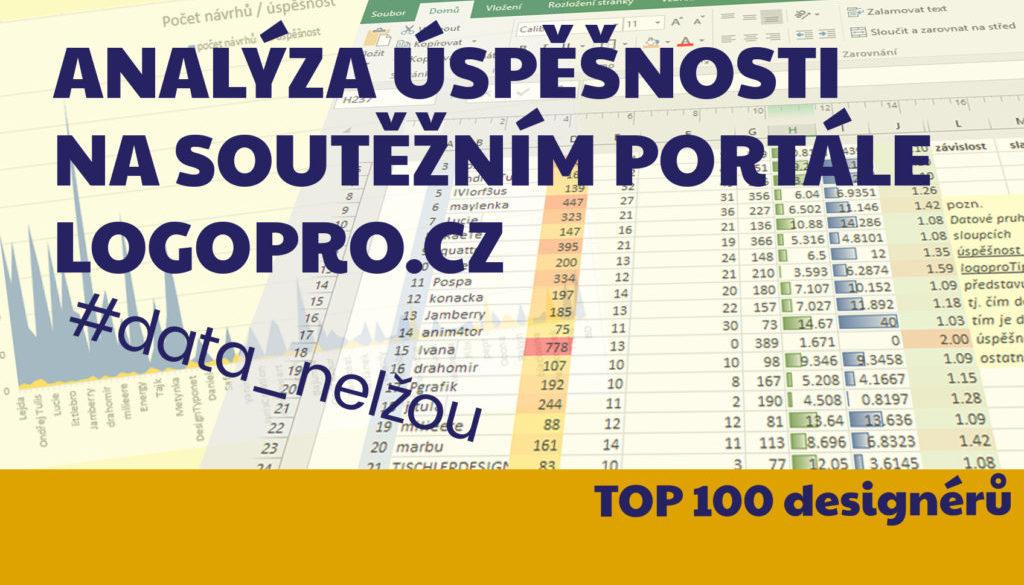 analyza uspěšnosti top 100 deignérů na soutěžním portále www.logopro.cz